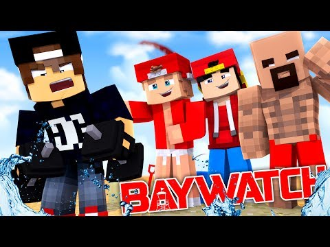 Minecraft - BAYWATCH  - TRAINING WITH THE ROCK & ZAC EFRON!!