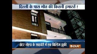 Seven-storey building tilts in Greater Noida