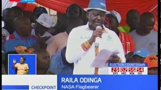 NASA Campaigns : Raila Odinga says Jubilee and IEBC are partners