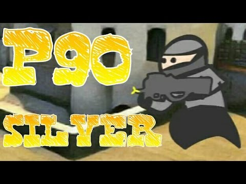 Typical P90 Silver game, play ( CS GO cartoon, counter strike animation)