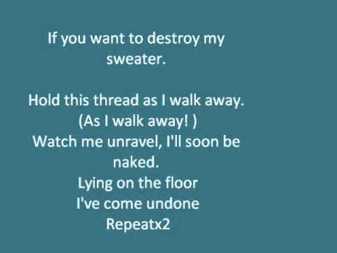 The Sweater Song Weezer with lyrics