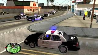 Смотреть онлайн Приколы в GTA San Andreas– игра за «копа»