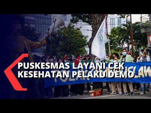 puskesmas layani cek kesehatan untuk peserta demo