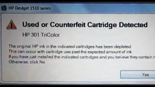 Bypass COUNTERFEIT Printer Cartridge Error Box   Avoid HP Print Cartridge Ink Scam