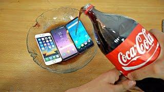 Samsung Galaxy S8 vs iPhone 7 vs LG G6 Coca-Cola Test! Coca-Cola Proof?
