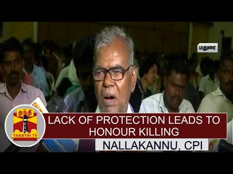 Lack-of-Protection-leads-to-Honour-Killing--NallaKannu-CPI-Thanthi-TV