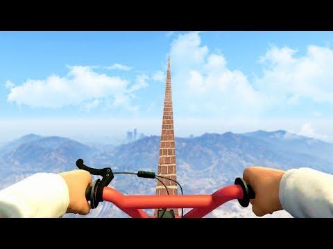 GTA5高空單車 有夠刺激的