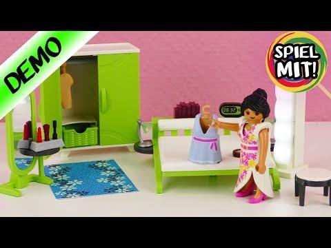 Playmobil deutsch | NEUES Schlafzimmer einrichten mit Bett, Schminkspiegel & Kleiderschrank | Demo