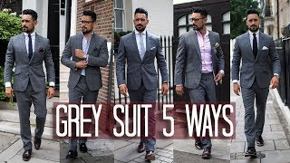 How To Wear A Grey Suit 5 Ways | Mens Style & Fashion Lookbook