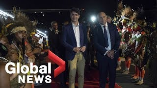 Trudeau receives official welcome in Papua New Guinea