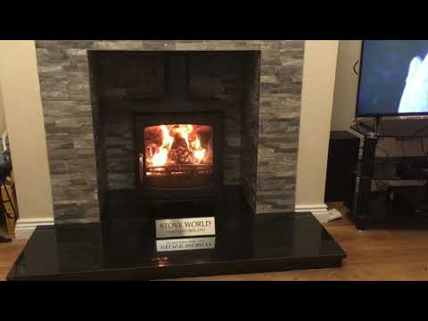7-8kw Ottawa Clean Burn Contemporary Woodburning Stoves Multifuel Curve Fitted Northern Ireland Mp3