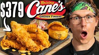 $379 Raising Cane's Chicken Tenders Taste Test | FANCY FAST FOOD