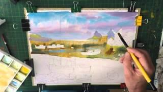 Polperro Cornwall Watercolour demo Part 1