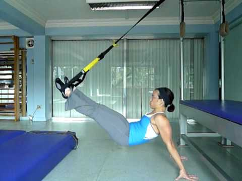 TRX Suspended Supine Pull Through facing away and Pike Sit Pendulum (Version 2).MOV