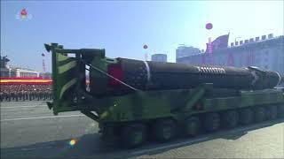 В Пхеньяне за день до открытия Олимпиады прошел военный парад