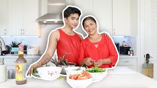 """Cooking with my MOM! """" Episode 2 Pinakbet"""