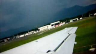 preview picture of video 'Air France Embraer 145 Take Off in Ljubljana Airport'