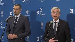 M. Pęk, J. Chróścikowski – Briefing senatorów PiS w Senacie