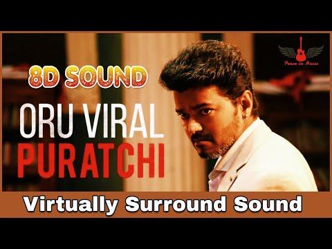 Oru Viral Puratchi | 8D Audio Song | Sarkar | Thalapathy
