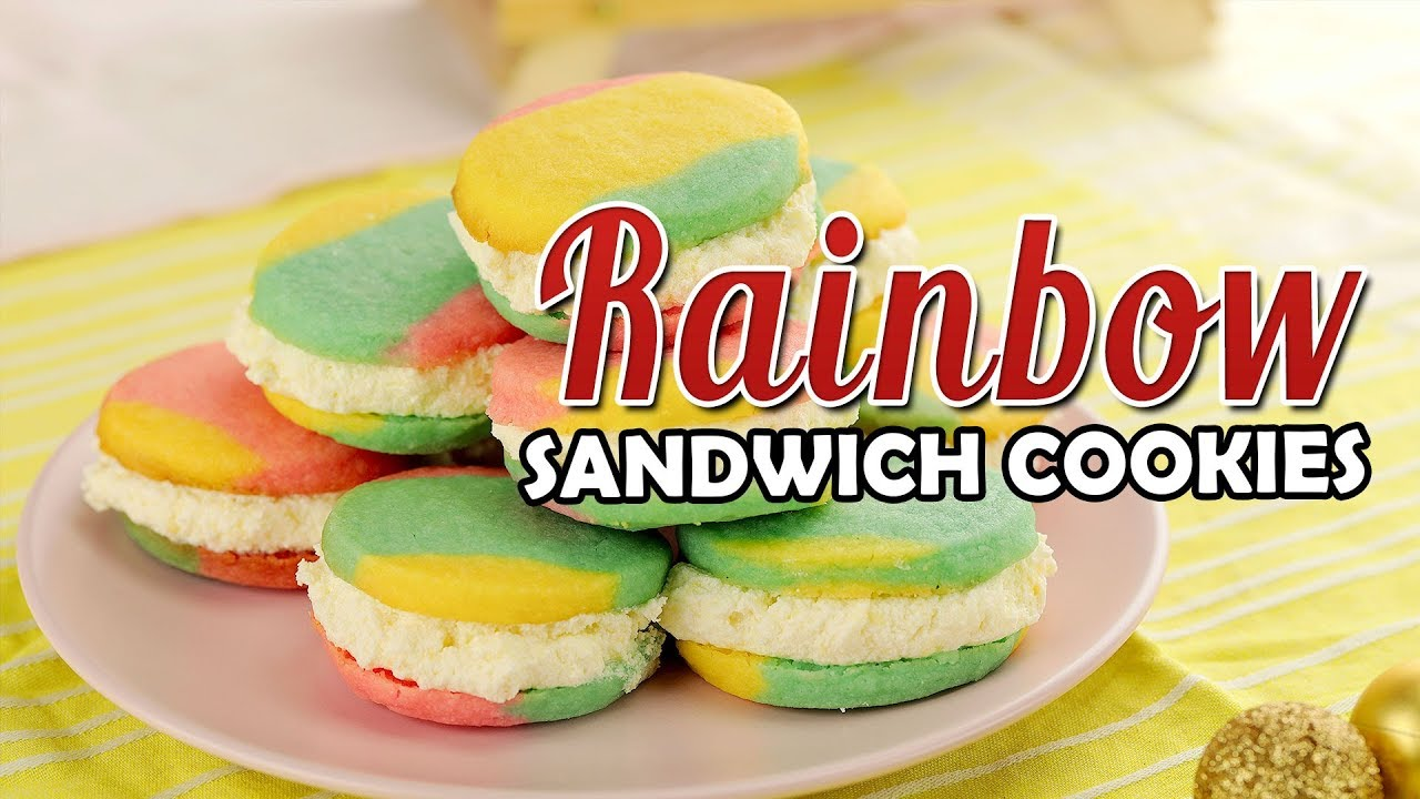 Rainbow Sandwich Cookies