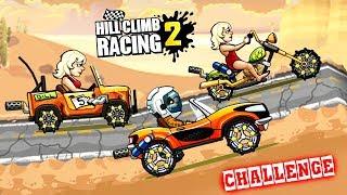 Hill Climb Racing 2 ЧЕЛЛЕНДЖ Джип Чоппер и Спортивный game kids Мультяшная игра про машинки гонки
