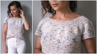 The Perfect Summer Crochet Top Pattern - Learn Ehdc And Picot Trim! Kalaheo