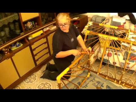 Realizzazione di un restauro divano in rattan