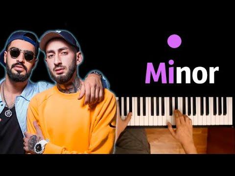 Miyagi & Andy Panda - Minor ● караоке | PIANO_KARAOKE ● ᴴᴰ + НОТЫ & MIDI
