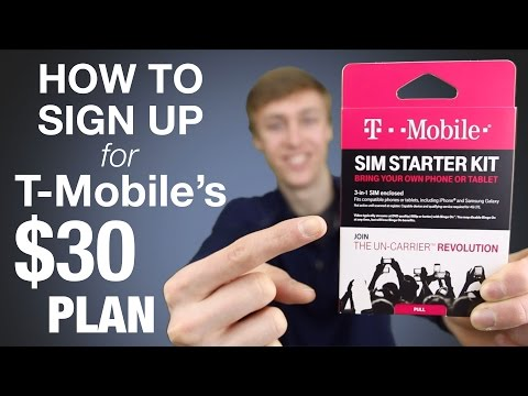 How To Sign Up For T-Mobile's $30 Prepaid Plan!