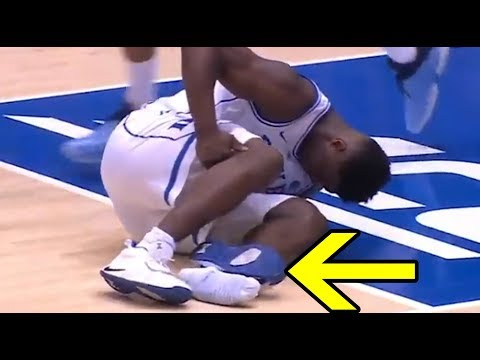 Nike Responds As Zion Williamson RIPS Through His Shoe Injuring Himself In Biggest Game Of The Year!