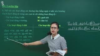 Động từ - Tiếng việt 4 – Cô Phạm Thị Thu Thủy