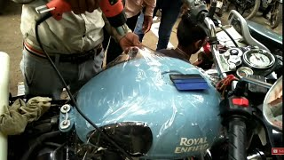 New Royal Enfield Classic Redditch Blue 2017 (Protecting Tank From Scratches)