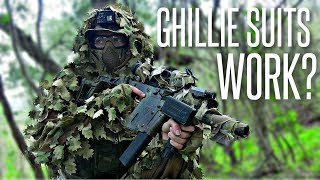 Do Ghillie Suits Actually WORK? - Airsoft (Leaf Suit / Krytac Vector)