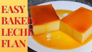 Easy Baked Leche Flan - PERFECT SMOOTH CREAMY  LECHE FLAN - VLOG#03