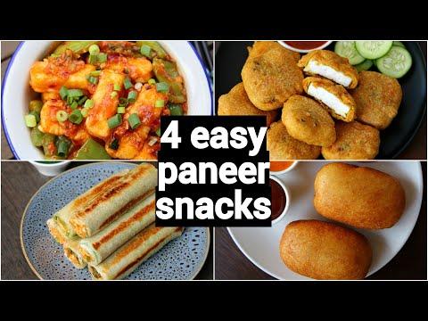 4 easy paneer snacks recipes
