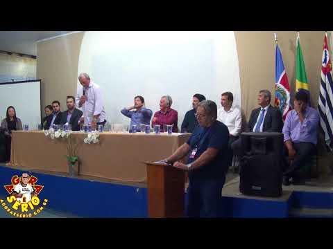 Prefeito Ayres Scorsatto com a Palavra na inauguração da Etec de Juquitiba
