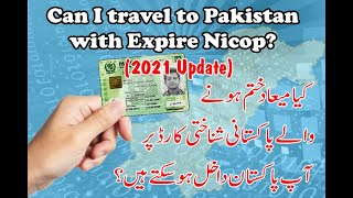 Can I travel to Pakistan with Expire Nicop,Poc?
