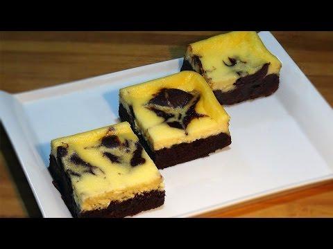 Receta Brownie cheesecake - Recetas de cocina, paso a paso, tutorial