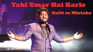 Arijit Singh Live Galti se mistake from Jagga Jasoos and Zalima Live | #LoveArijit