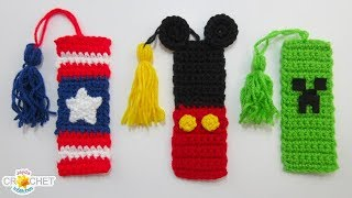 3 Playful Back To School Crochet Bookmarks - Pattern & Tutorial