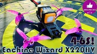 ✔ Новый Народный Квадрокоптер - Eachine Wizard X220HV под 4-6S! Жарит Дико о_О
