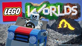 Lego Worlds | Skeletons, Bulldozers and EPIC Car Stunts!