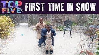 Top 5 FIRST TIME Seeing Snow Reactions