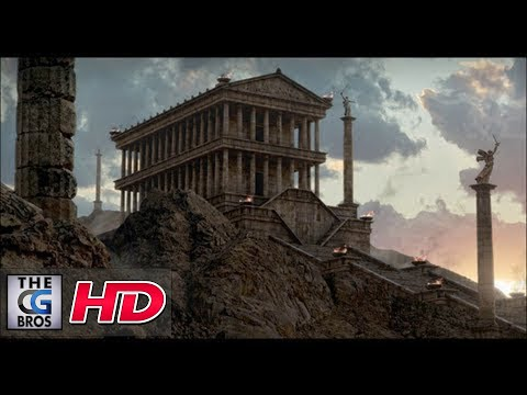 "CGI Breakdown Matte Painting : ""Wrath of the Titans"" Temple 1 –  by Francesco Corvino"