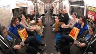 Human Mirror funny stunt on train Video