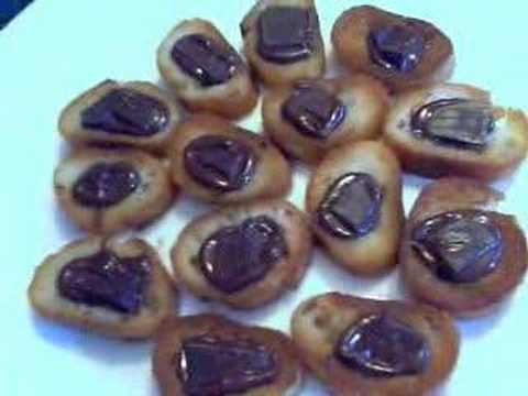 Savory Chocolate Crustini with Maldon Sea Salt Crystals