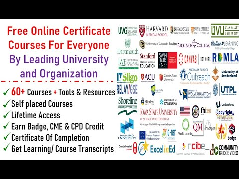Free Online Courses From Leading University & Organizations   Self ...