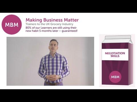 Negotiation Skills Training - MBM Training Course - YouTube