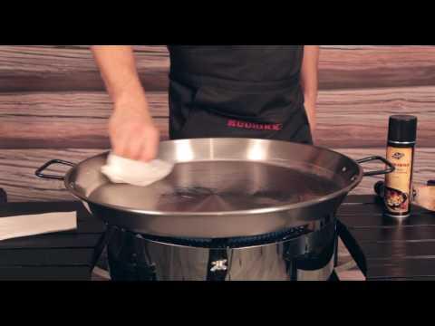 Ingebrauchnahme Muurikka-Paellapfanne aus Stahl