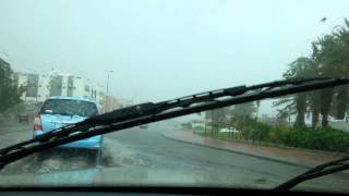 preview picture of video 'Rain at jeddah'